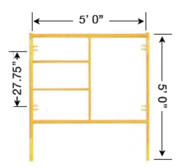 Where to find SCAFFOLD FRAME, 5  X 5 in Hagerstown