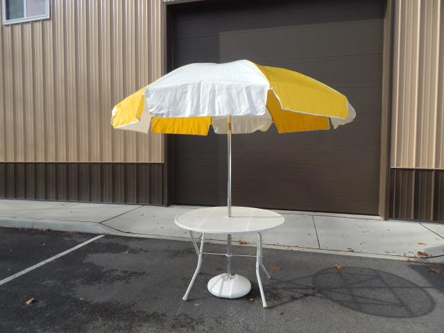 Where to find TABLE, 42  W UMBRELLA YELLOW WH in Hagerstown