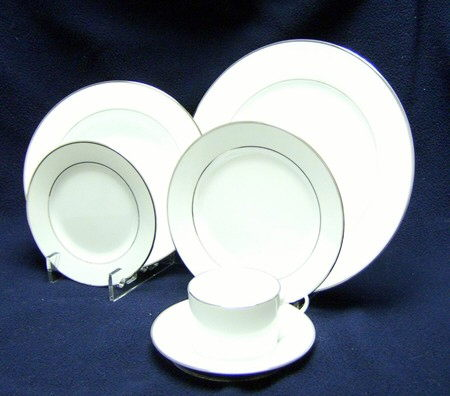 Where to find CHINA PLATE, SAUCER WHITE SILVER  20 in Hagerstown