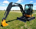 Where to rent EXCAVATOR, JD 35  ENCL. CAB ANGLE BLADE in Hagerstown MD